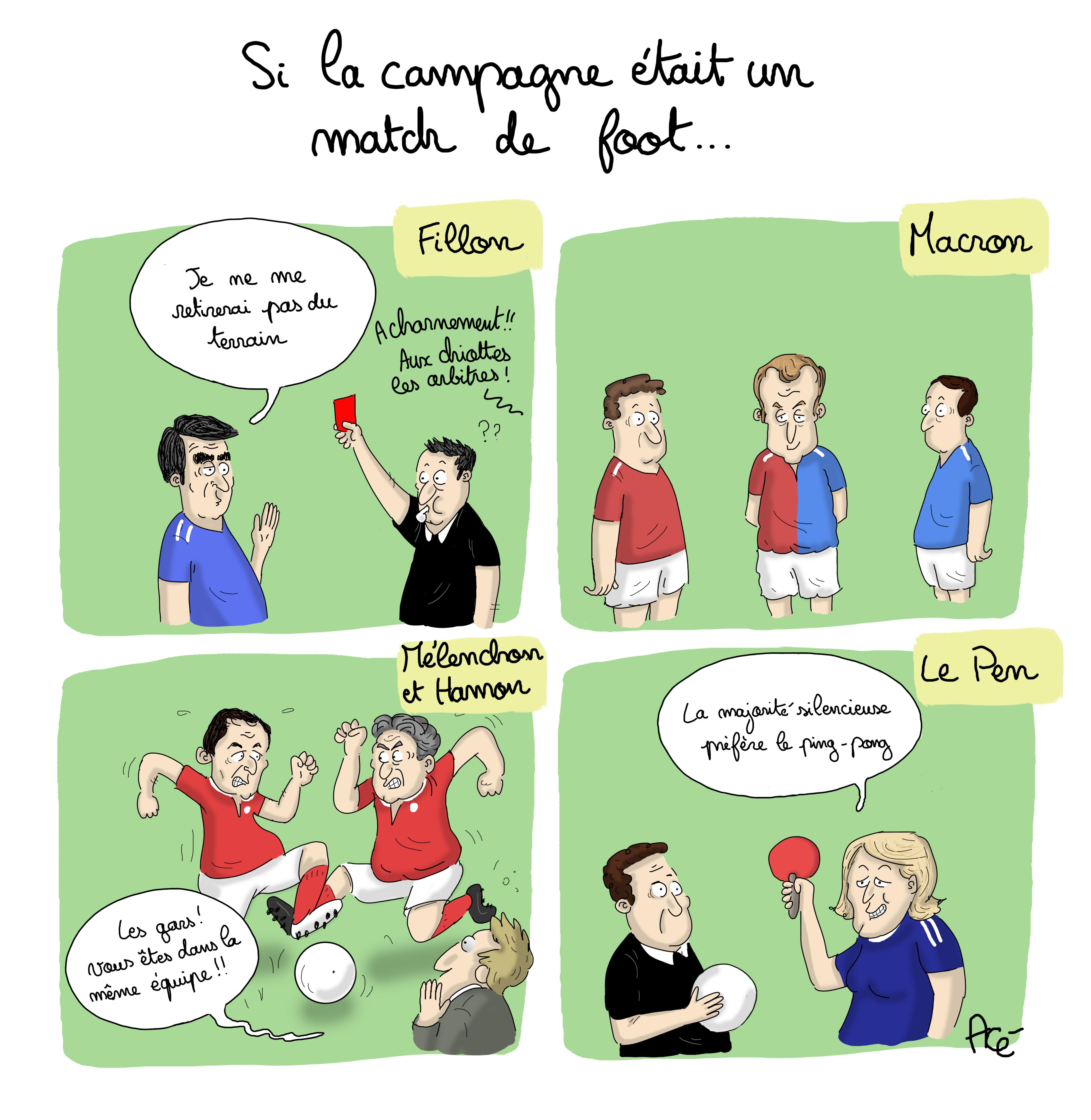 2017-France-Dessin-politique-campagne-présidentielle