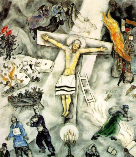 Pâques-Chagall-Crucifixion-Blanche