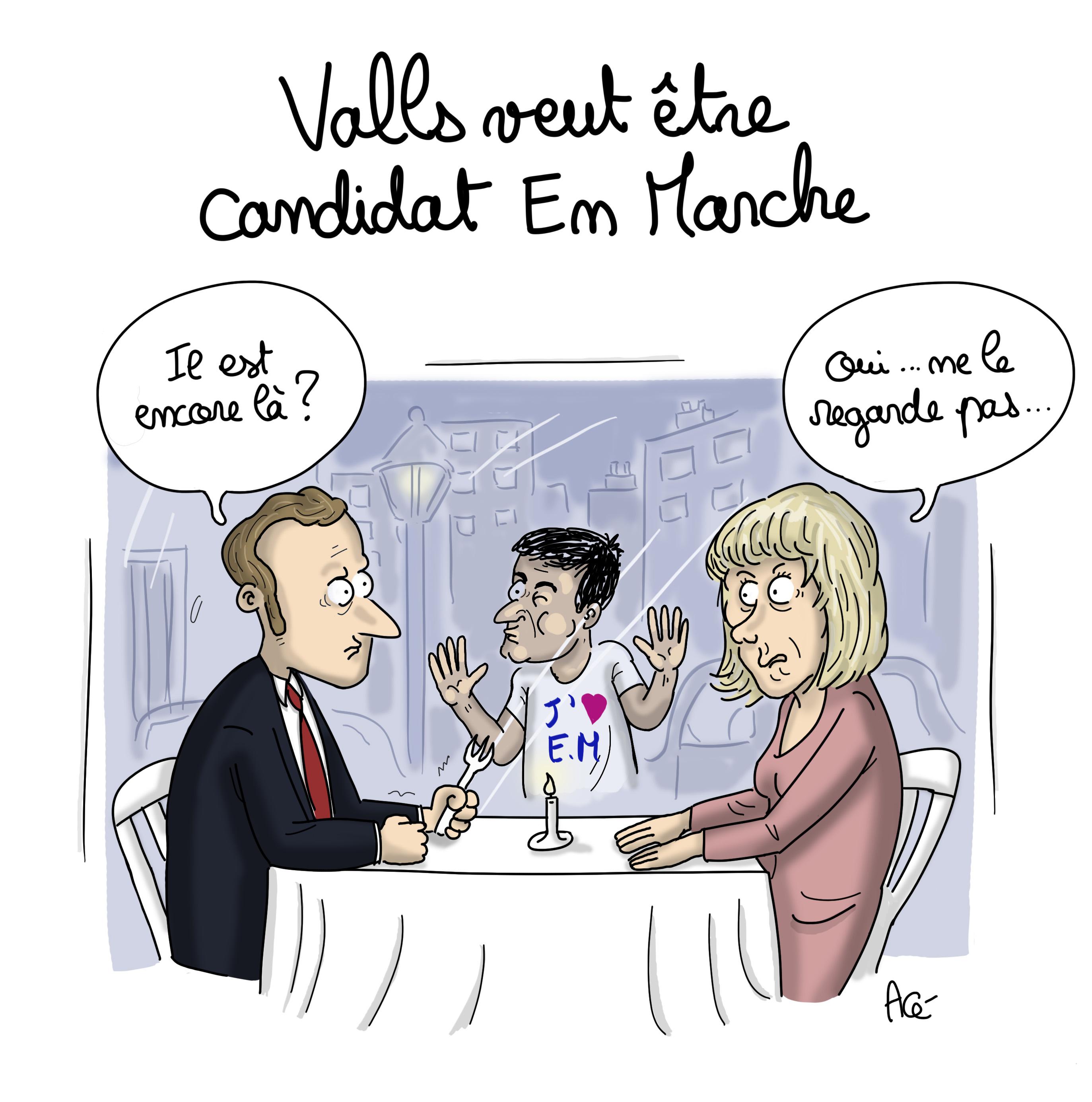 Macron-Mélenchon-Valls