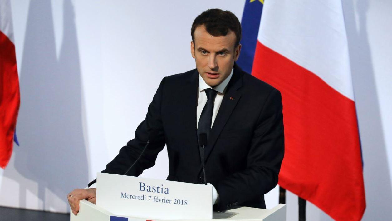Macron-Corse-franglais-anglais