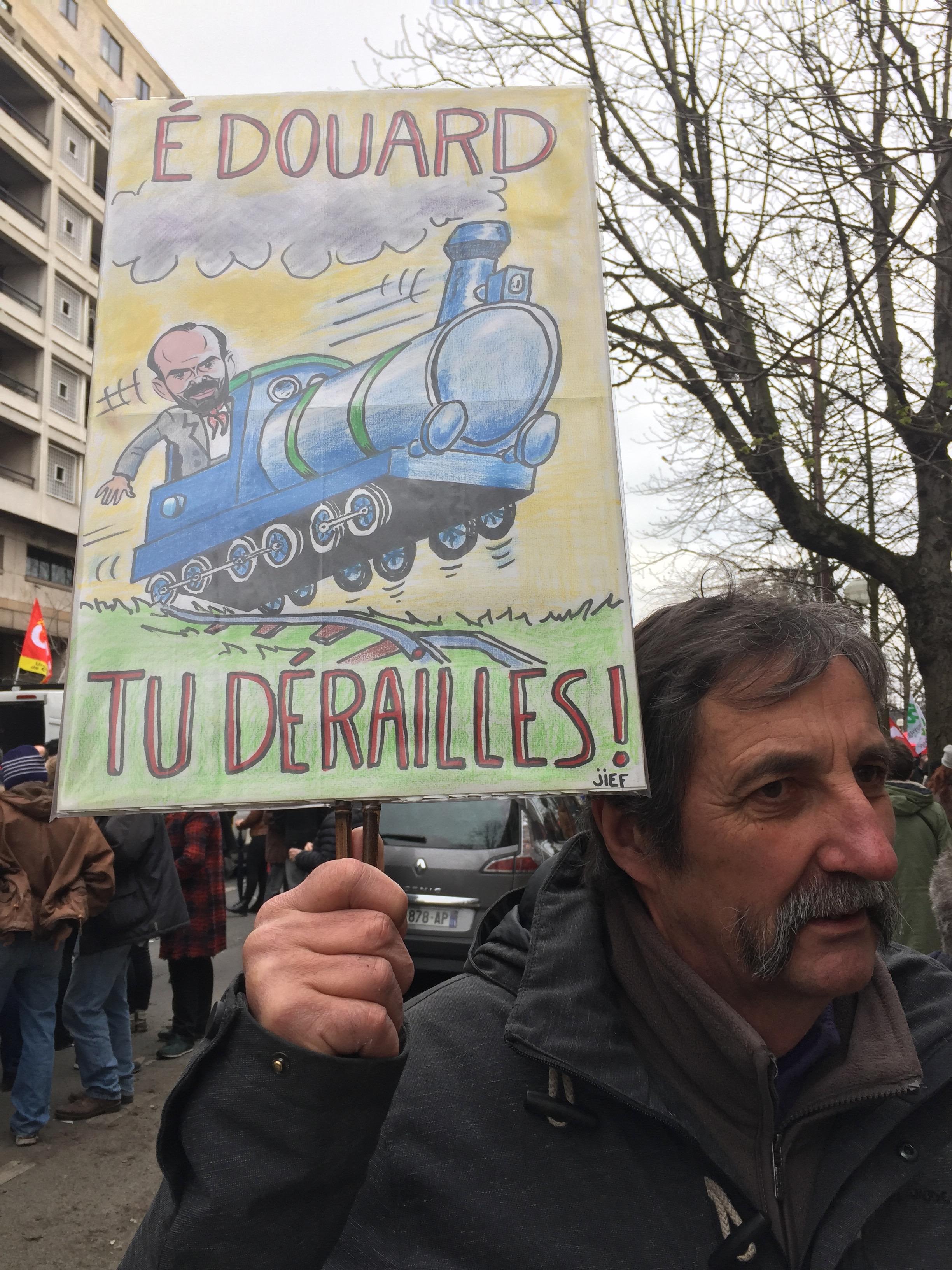 Macron-Cheminot-SNCF-Grèves-manif