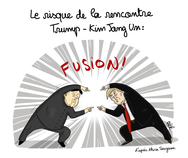 Kim-Trump-Macron-Corée