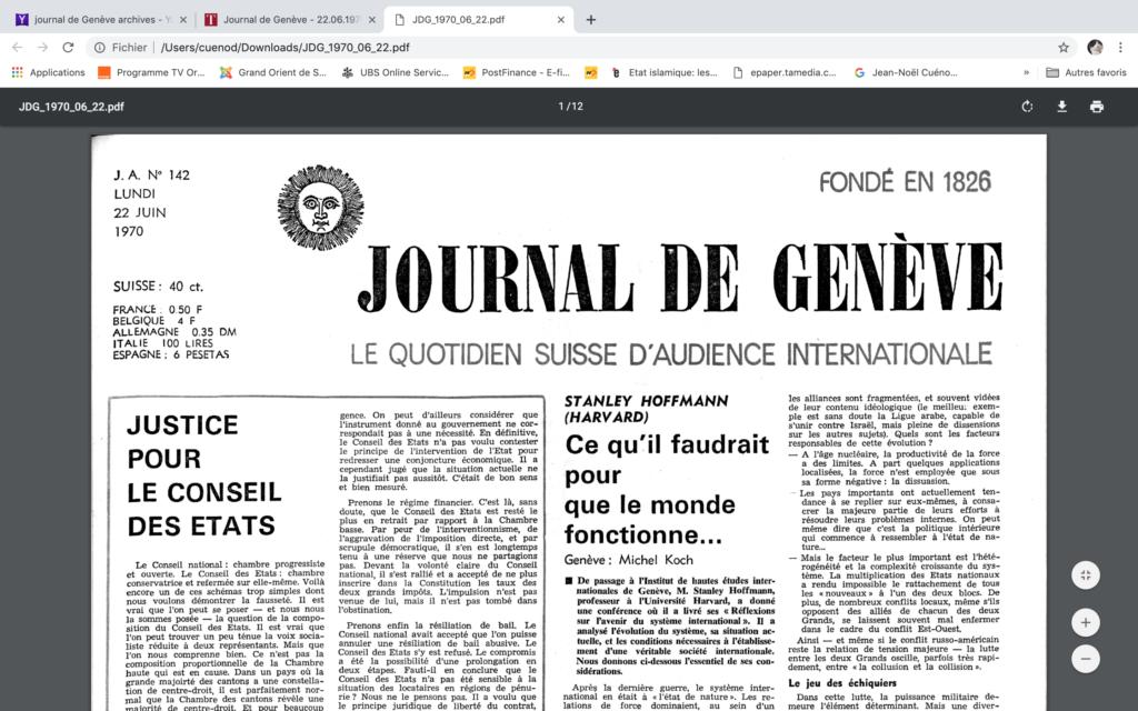 information-journal-de-Genève-une